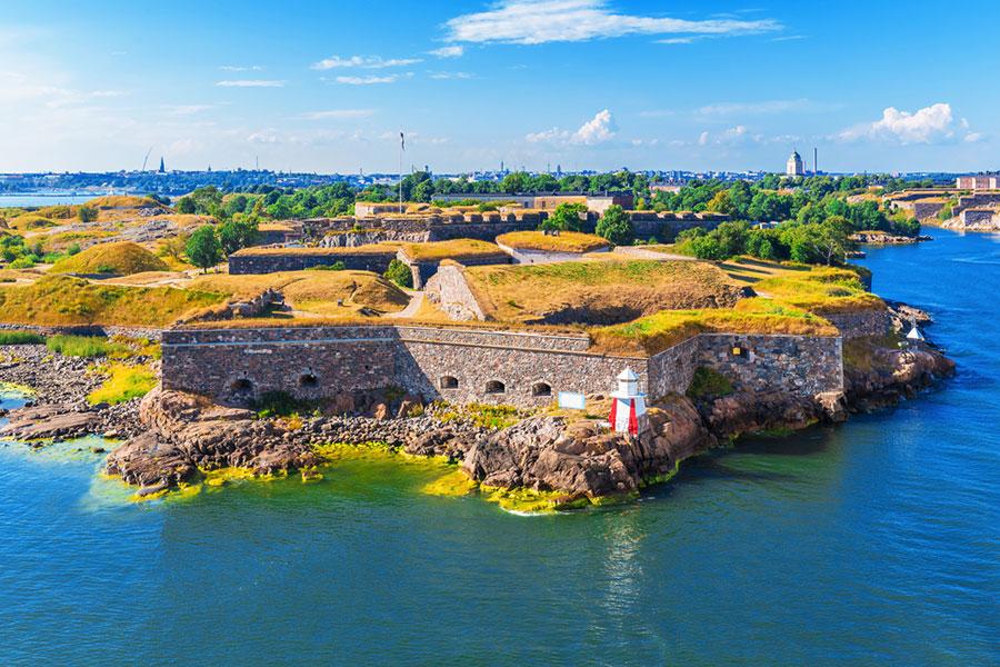 Helsinki, dans le golfe de Finlande